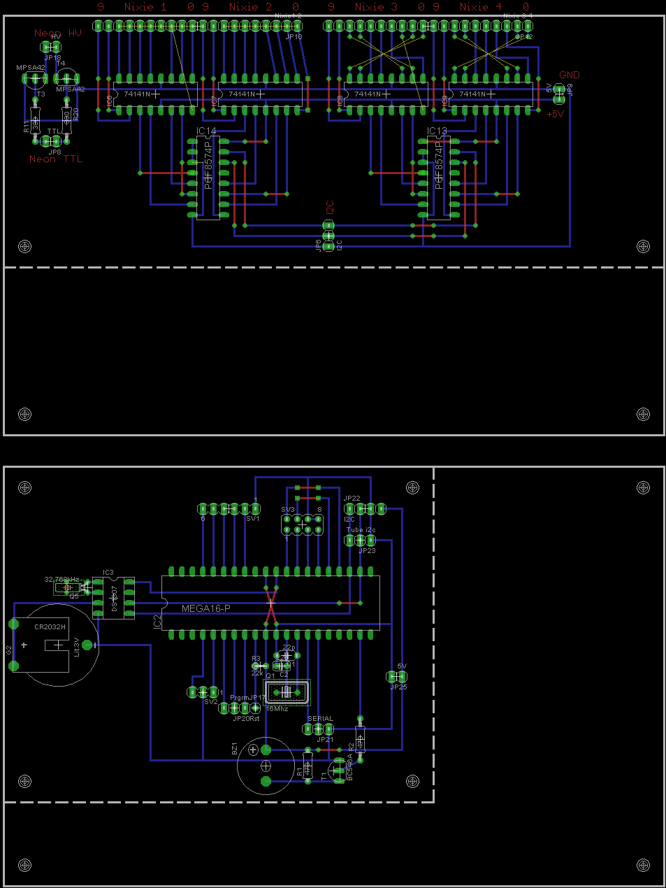 Nixie Clock Ketturi Electronics Tube Schematic Page 2 Third Part Is Probably The Most Time Consuming And Difficult One Making Case Mounting All Tubes Knobs Switches Circuit Board