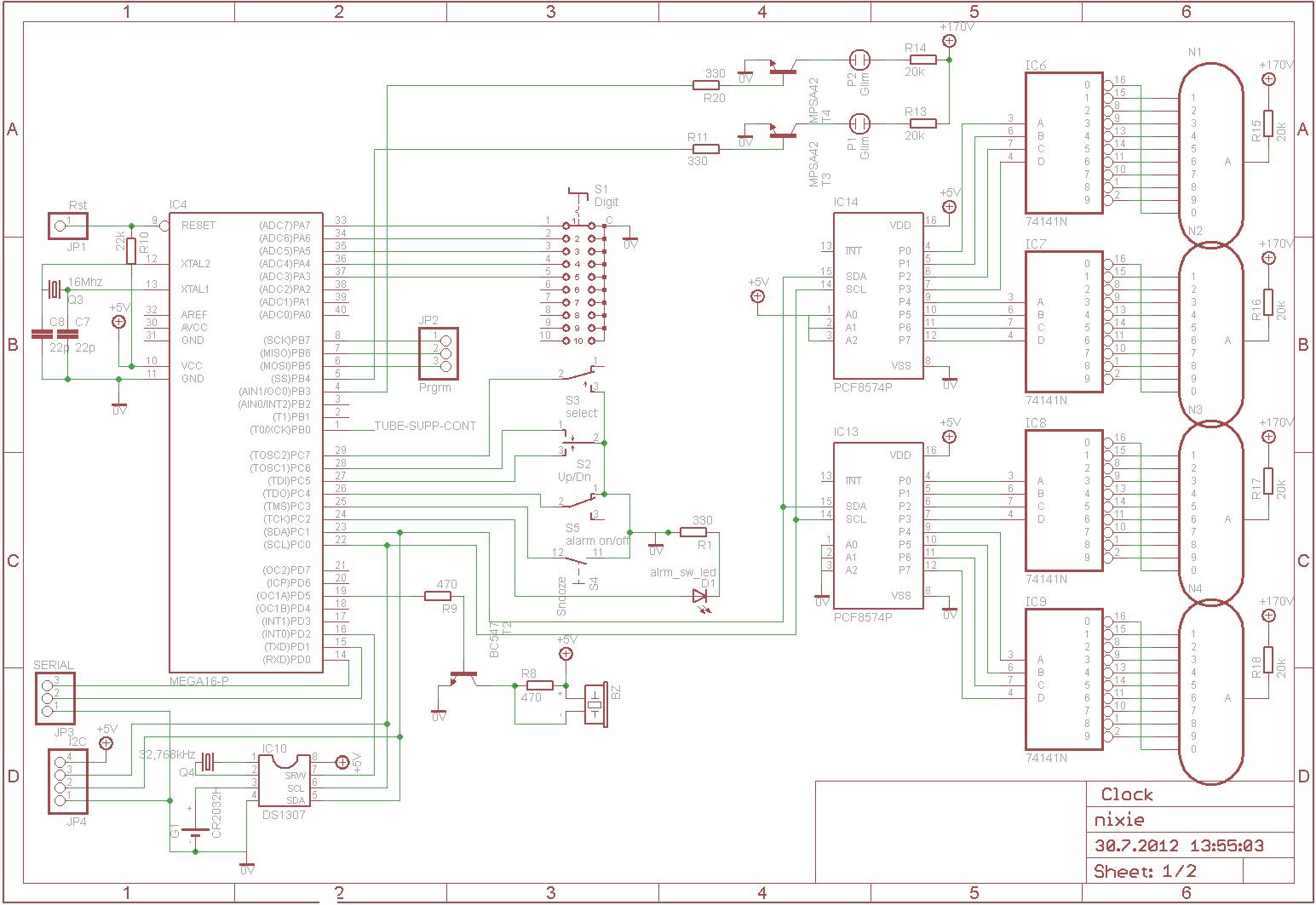 Nixie Clock Ketturi Electronics Circuit Diagrams I