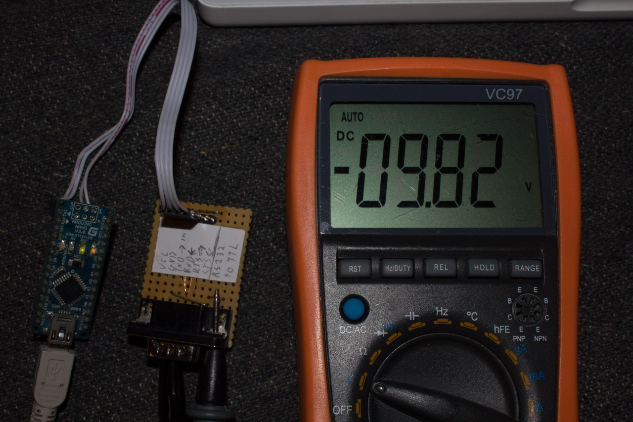 Uart To Rs232 Voltage Level Shifter Ketturi Electronics Updated Nixie Clock Schematic It Works St232 Is Generating 980v From 5v When Lines Not Loaded Takes Under 10ma And Perfectly With Arduino Other Development Tools