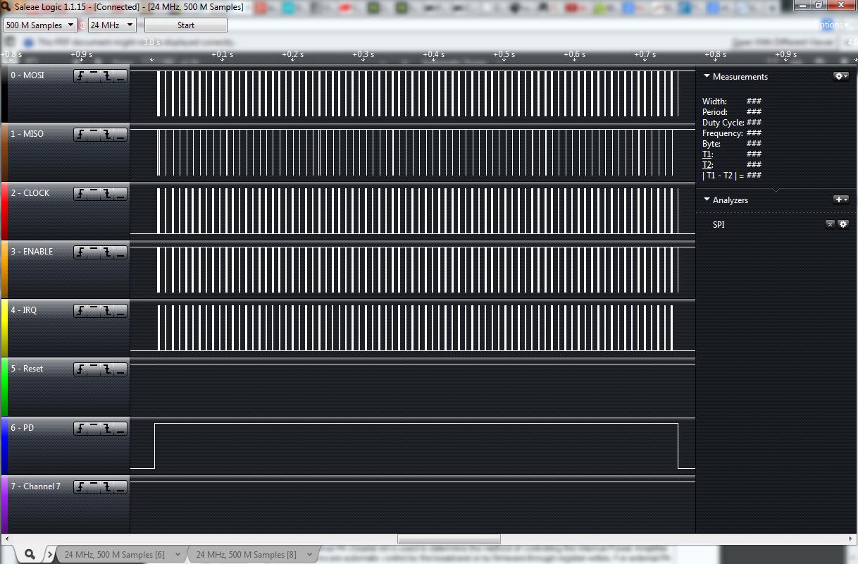 Saleae Logic Analyzer Knock Off Ketturi Electronics Updated Nixie Clock Schematic Vaio Wirellessusb Keyboard Spi To Transmitter A Key Pressed Once